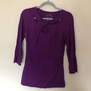 Purple 3/4 sleeve top